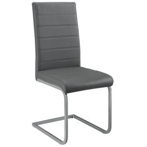 Eshopist Konzolová stolička Vegas sada 4 kusov zo syntetickej kože v sivej farbe
