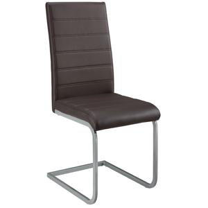 Eshopist Konzolová stolička Vegas sada 2 kusov zo syntetickej kože v hnedej farbe