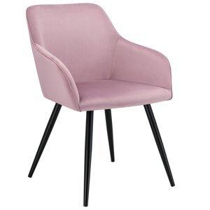 Eshopist Lounge stolička Tarje so zamatovým poťahom v staroružovej farbe