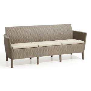 Allibert Salema 3 seater sofa - cappuccino