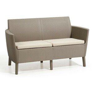 Allibert Salema 2 seater sofa - cappuccino