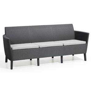 Allibert Salema 3 seater sofa - grafit