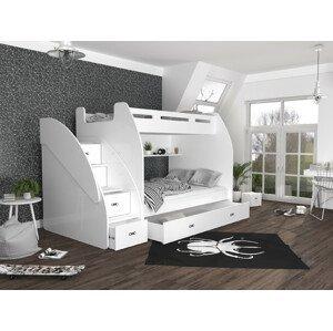 ArtAJ Detská poschodová posteľ ZUZIA Farba Zuzia: biela/biela