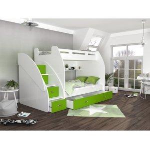 ArtAJ Detská poschodová posteľ ZUZIA Farba Zuzia: biela/zelená