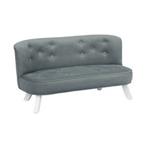 ArtSB Pohovka Royal Velvet - Grey Prevedenie: Pohovka s bielymi 17 cm nohami