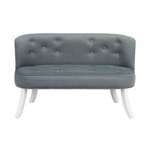 ArtSB Pohovka Royal Velvet - Grey Prevedenie: Pohovka s bielymi 25 cm nohami