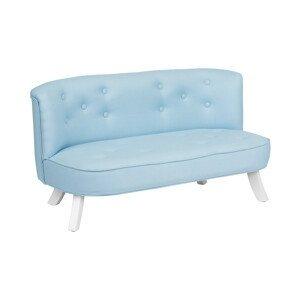 ArtSB Pohovka Eco Linen - Blue Prevedenie: Pohovka s bielymi 17 cm nohami