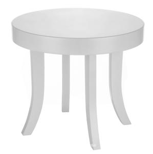 ArtSB Okrúhly stolík Bunny Prevedenie: Stolík s bielymi 47 cm nohami