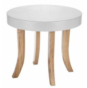 ArtSB Okrúhly stolík Bunny Prevedenie: Stolík s hnedými 37 cm nohami