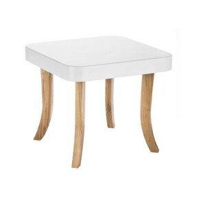 ArtSB Štvorcový stolík Bunny Prevedenie: Stolík s hnedými 47 cm nohami
