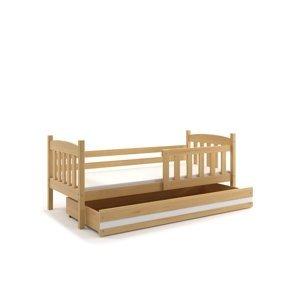 BMS Detská posteľ Kubuš 1 s úložným priestorom / borovica Farba: Borovica / biela, Rozmer.: 160 x 80 cm