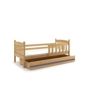 BMS Detská posteľ Kubuš 1 s úložným priestorom / borovica Farba: Borovica / sivá, Rozmer.: 160 x 80 cm