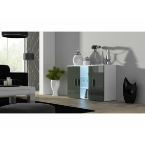 Artcam Komoda SOHO S7 Farba: Biela/sivý lesk
