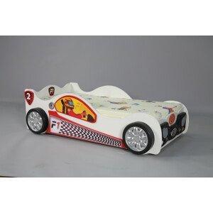 Artplast Detská posteľ formulka Monza Mini Farba: Biela