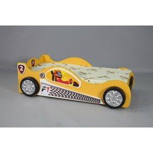 Artplast Detská posteľ formulka Monza Mini Farba: Žltá