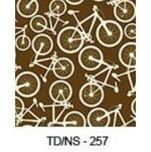 ArtPP Sedací vak Sako XXXL - PPY-03 Farba: Skladová zásoba č.257 / hnedá s bicyklami