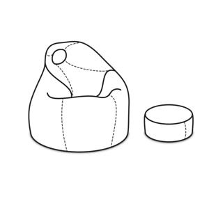 ArtPP Sedací vak Komfort XXL - PPY-31 Prevedenie: 3. cenová skupina látok