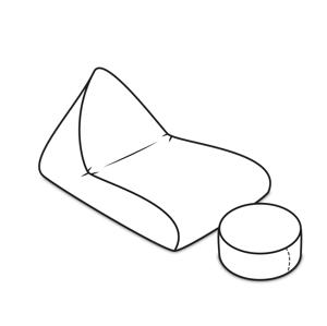 ArtPP Sedací vak Cosmo XXXXL - PPY-50 Prevedenie: 2. cenová skupina látok