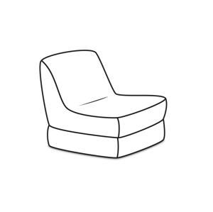 ArtPP Skladací sedací vak XXL - PPY-65 Prevedenie: 2. cenová skupina látok