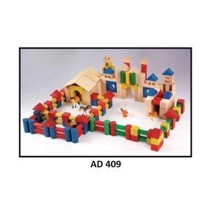 Drewmax Drevené kocky pre deti Prevedenie: AD 409