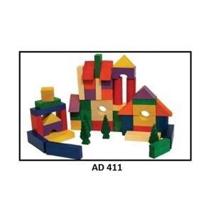 Drewmax Drevené kocky pre deti Prevedenie: AD 411