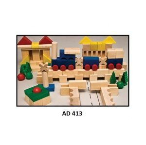 Drewmax Drevené kocky pre deti Prevedenie: AD 413