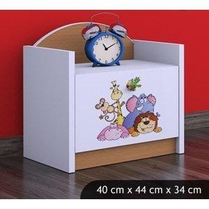 Happy Babies Nočný stolík HAPPY/ 05 Safari SZN02 Farba: Buk, Prevedenie: Jedna zásuvka