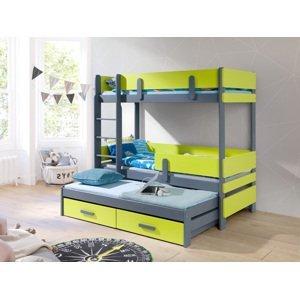 ArtBed Detská poschodová posteľ Ettore III Prevedenie: Morenie - Farba