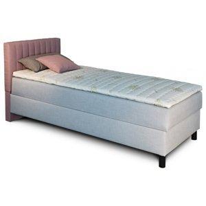 New Design  Čalúnená posteľ NOVO s krátkym čelom, Ľavá varianta Rozmer.: 90 x 200 cm