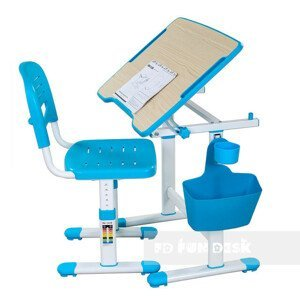 Fundesk Rastúci stôl PICCOLINO II + stolička Farba: Modrá