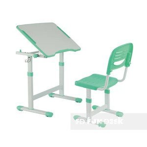 Fundesk Rastúci stôl PICCOLINO II + stolička Farba: Zelená