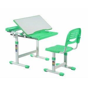 Fundesk Rastúci stôl CANTARE + stolička Farba: Zelená