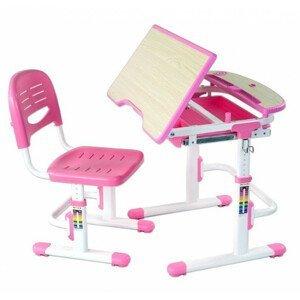 Fundesk Rastúci stôl SORRISO + stolička Farba: Ružová