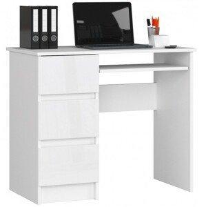 ArtAko Písací stolík Clips A-6 Farba: biely lesk, Prevedenie: ľavé
