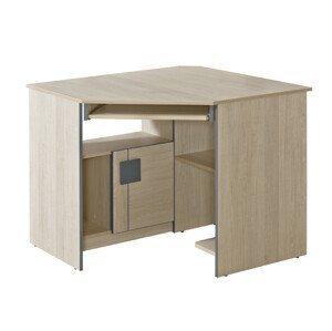 Dolmar Rohový písací stolík Gumi G11 Farba: dub santana / sivá