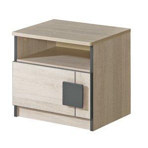 Dolmar Nočný stolík Gumi G12 Farba: dub santana / sivá