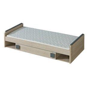 Dolmar Detská posteľ Gumi G13 Farba: dub santana / sivá
