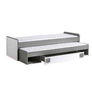 Dolmar Detská posteľ Gumi G16 Farba: Sivá / biela