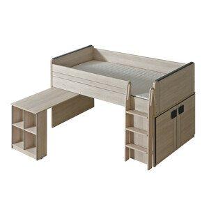 Dolmar Detská posteľ Gumi G15 Farba: dub santana / sivá