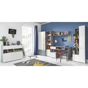 Meblar  Detská izba Sigma E Farba: beton/biela/dub