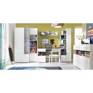 Meblar  Detská izba Sigma F Farba: biela/beton