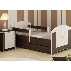 ArtBoo Detská posteľ BABY 140 x 70 BOO Hnedá: Medvedík