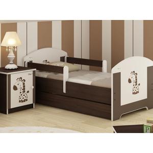 ArtBoo Detská posteľ BABY 140 x 70 BOO Hnedá: Žirafka