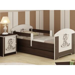 ArtBoo Detská posteľ BABY 160 x 80 BOO Hnedá: Tigrík