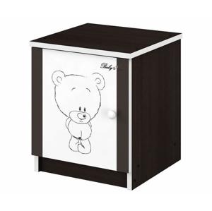 ArtBoo Detský nočný stolík BABY BOO Hnedá: Medvedík