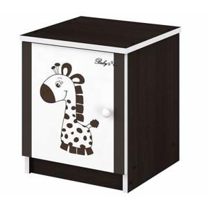 ArtBoo Detský nočný stolík BABY BOO Hnedá: Žirafka