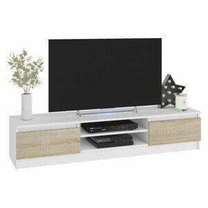 ArtAko TV stolík Clips K160 Farba: Biela / dub sonoma