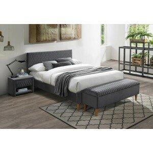 Signal Manželská posteľ Azurro Velvet 180x200 Farba: Sivá