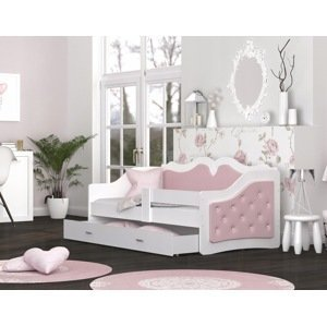 ArtAJ Detská posteľ LILI K | Trinity 180 x 80 cm Farba: Púdrovoružová