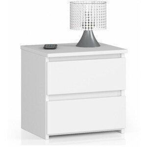 ArtAko Nočný stolík Clips CL2 2SZ biela Farba: Biela